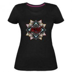 Женская стрейчевая футболка AC/DC Art Logo