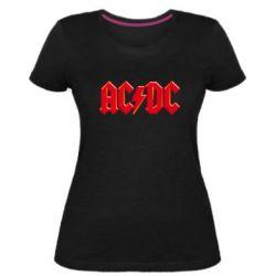 Женская стрейчевая футболка AC/DC Red Logo