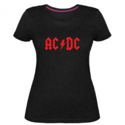 Женская стрейчевая футболка AC DC