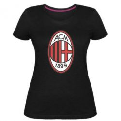 Жіноча стрейчева футболка AC Milan