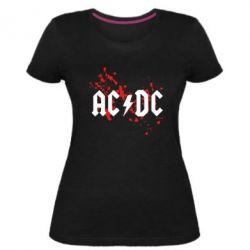 Жіноча стрейчева футболка ACDC
