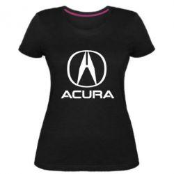 Жіноча стрейчева футболка Acura logo 2