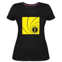 Жіноча стрейчева футболка агент 007