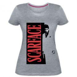 Купить Женская стрейчевая футболка Al Pacino aka Tony Montana, FatLine