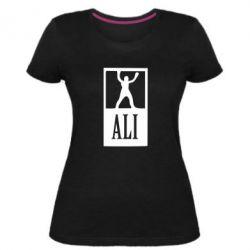 Женская стрейчевая футболка Ali - FatLine
