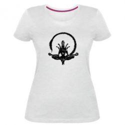 Женская стрейчевая футболка Alien Yoga - FatLine