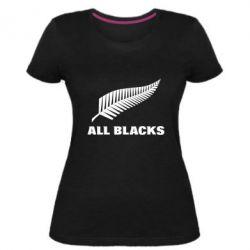 Женская стрейчевая футболка All Blacks
