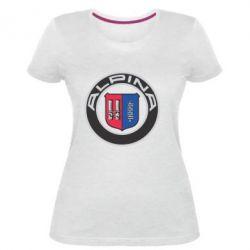 Жіноча стрейчева футболка Alpina