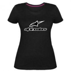 Жіноча стрейчева футболка Alpinestar Logo
