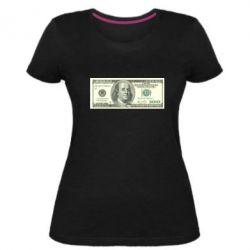 Жіноча стрейчева футболка Американський Долар