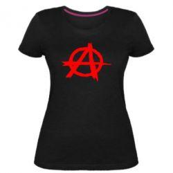 Женская стрейчевая футболка Anarchy