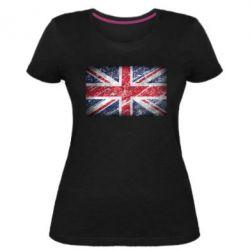 Женская стрейчевая футболка Англия
