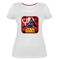 Жіноча стрейчева футболка Angry Birds Star Wars Logo - FatLine