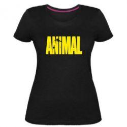 Женская стрейчевая футболка Animal Logo