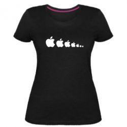 Жіноча стрейчева футболка Apple Еволюції