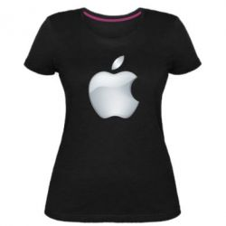 Жіноча стрейчева футболка Apple Silver - FatLine