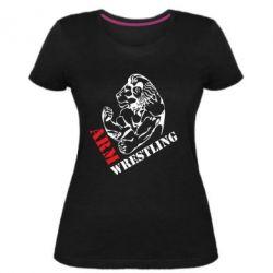 Жіноча стрейчева футболка Arm Wrestling