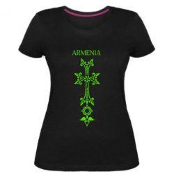 Женская стрейчевая футболка Armenia