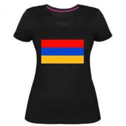 Жіноча стрейчева футболка Вірменія