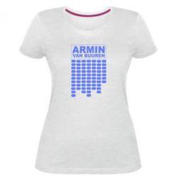 Женская стрейчевая футболка Armin Van Buuren Trance