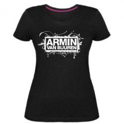 Женская стрейчевая футболка Armin Van Buuren