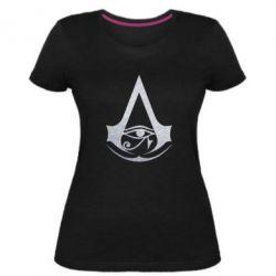 Жіноча стрейчева футболка Assassin's Creed Origins logo