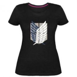 Жіноча стрейчева футболка Атака титанів