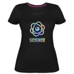 Жіноча стрейчева футболка Atom science