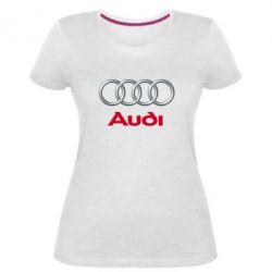Жіноча стрейчева футболка Audi 3D Logo