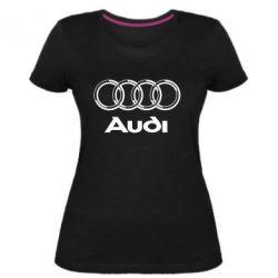 Женская стрейчевая футболка Audi Big