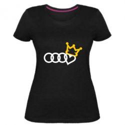 Жіноча стрейчева футболка Audi queen