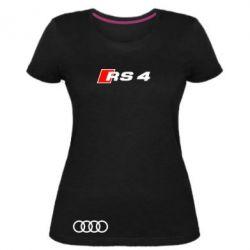 Женская стрейчевая футболка Audi RS4