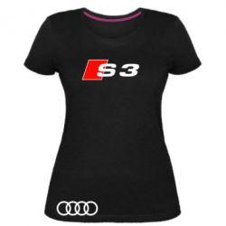 Женская стрейчевая футболка Audi S3