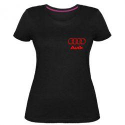 Женская стрейчевая футболка Audi Small
