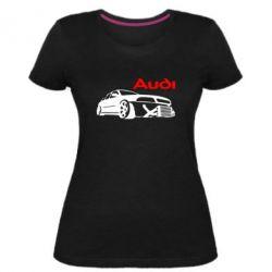 Жіноча стрейчева футболка Audi Turbo