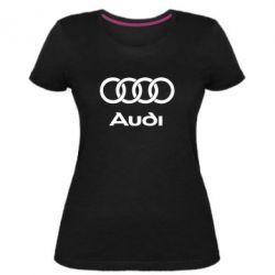 Женская стрейчевая футболка Audi - FatLine