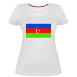 Женская стрейчевая футболка Азербайджан