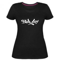 Женская стрейчевая футболка Bad Boy Logo
