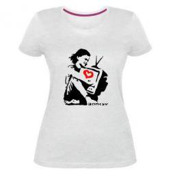 Жіноча стрейчева футболка Bancsy TV