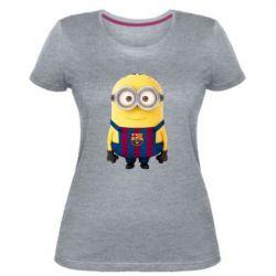 Женская стрейчевая футболка Barca