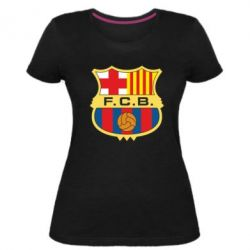 Жіноча стрейчева футболка Barcelona