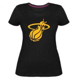 Жіноча стрейчева футболка Баскетбольний м'яч в кільця