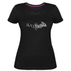 Женская стрейчевая футболка Batman: arkham city
