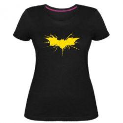 Женская стрейчевая футболка Batman cracks - FatLine
