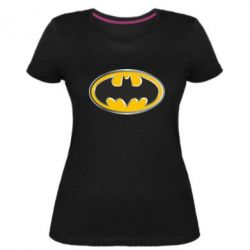Женская стрейчевая футболка Batman Gold Logo
