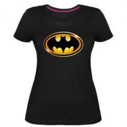 Жіноча стрейчева футболка Batman logo Gold