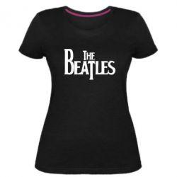 Женская стрейчевая футболка Beatles - FatLine