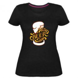 Жіноча стрейчева футболка Beer goblet