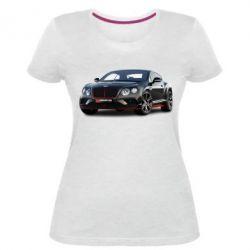 Жіноча стрейчева футболка Bentley car3