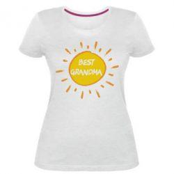 Жіноча стрейчева футболка Best Grandma